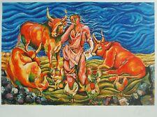 SANDRO CHIA litografia a 25 colori, titolata ''PASTORALE'' (39)