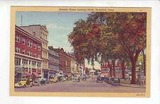 Stamford Connecticut Atlantic Street looking North linen