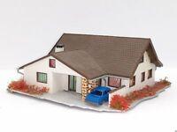 Schönes Landhaus mit  Carport und Auto BELEUCHTET Spur N D0306