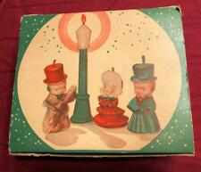 Vintage 4 Piece Retro Candle Set The Carollers in Original Box Tavern Candles Ny