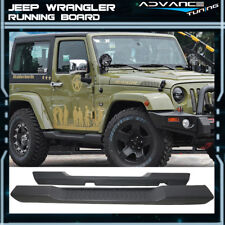 For 07-17 Jeep Wrangler 2DR OE Style Running Board Side Steps Nerf Bars Pair
