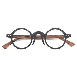 Deluxe Brand Design Handmade Acetate Glasses frames Women Men Round Eyeglasses