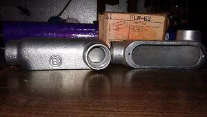BRIDGEPORT LR-63 1-IN LR CONDUIT BODY 2 IN BOX