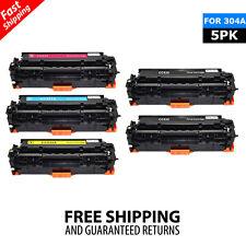 5PK Toner Cartridge Color Set For HP CC530A - CC533A 304A LaserJet CM2320 CP2025