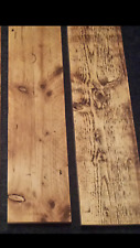 Two sanded reclaimed scaffold board solid shelves