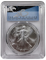 2002 American Silver Eagle PCGS MS70 Thomas Cleveland Signature One Ounce 9719