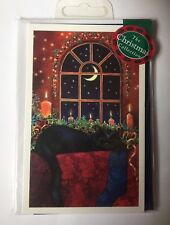 'Sleeping Beauty' Beautiful Black Cat Stocking 15 small Christmas cards SALE