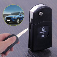 Flip Key Shell for MAZDA 3 5 6 Flip Remote Key Case 2 Button Fob 6.7x3.4x1.6cm