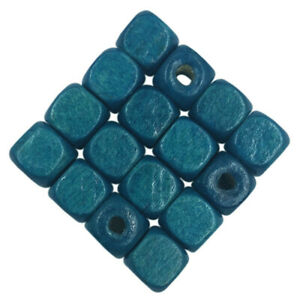50/100Pcs 6/8mm Wood beads Square Loose Beads Jewelry Accessories DIY Findings