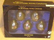 The Nightmare Christmas Humpties Conjunto de 5 Before. Coleccionables.