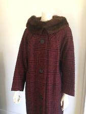 Original Vintage 50s 60s Swing Coat Jacket , Red , Pinup Rockabilly, Madmen