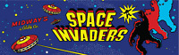 Space Invaders arcade marquee panel