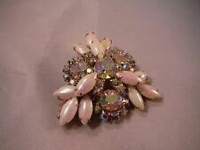 Vintage Juliana Rhinestone and Pearl  Pin Brooch Mint JewelryBox D