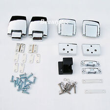 Chrome Tourpak Hinge Latch Kit 4 Harley HD 88-13 Razor Chopped King Tour Pack