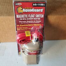 AquaGuard AG1100+ Magnetic Float Switch 24 VAC Sensor High Cap. 5 Amp 6Ft. Wire