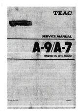 Service Manual-Anleitung für Teac A-7,A-9