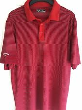 Callaway XXL Red Blue Stripe SS STUNNING Golf Polo Shirt, Worn Once Condition
