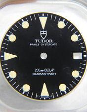 VINTAGE AUTENTICO Tudor Submariner 76100 79090 Matte Black & Cream Quadrante Orologio