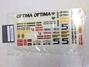 Kyosho OT-44 DECAL OPTIMA #5 Sealed BNIB (Reproduction)