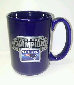 New England Patriots Super Bowl XLIX Champions BLUE Ceramic Mug BLACK FRIDAY SAL