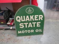 Quaker State Double sided original enamel sign No Reserve!