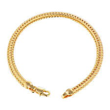 Mens Jewelry Snake Chain Braclet 18K Yellow Solid Gold Filled Authentic Heavy