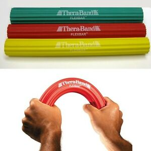 Thera-Band Flex Bar Resistance Theraband Grip Wrist Hand Sport Light-Heavy REHAB