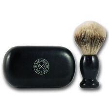 Executive Afeitado de aletas plateadas viaje de pelo de tejón brocha de afeitar SB28KX