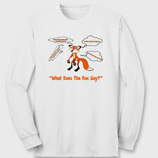 What Does The Fox Say Funny You Tube YLVIS T-shirt Norwegian Long Sleeve Tee