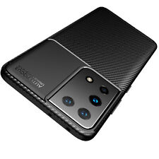 Samsung Galaxy S21 Ultra 5G Hülle Schutzhülle Silikon Case Schwarz Carbon Optik