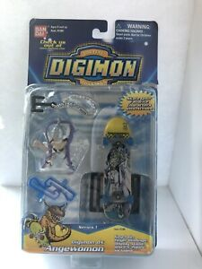 BANDAI Digimon DX Angewomon Series 1 Skateboard Figure Set w/ Keychain 😃