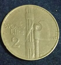 BUONO DA 2 LIRE 1925 FASCIO NON COMUNE VITTORIO EMANUELE III REGNO D'ITALIA