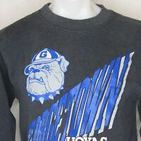 Vtg Georgetown Hoyas Sweatshirt Santee 90s Bulldog Large Made in the USA