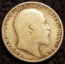 1906 Edward VII .925 Silver British Shilling Coin