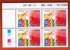 2011 - Bloc de  4 Timbres - 50 Ans de L'OCDE - Coin Date -Yt.4563
