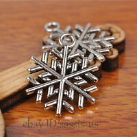 50pcs 20mm Charms snow flower Tibet silver pendant DIY Jewelry Bead Making A7214