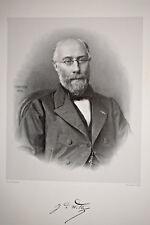 BARON JEAN DE WITTE Portrait GRAVURE Victor Frond Pantheon 39x27 cm 1865