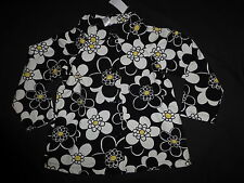 NWT NEW girls Gymboree BEE CHIC black flower swing coat jacket Large L 10 12