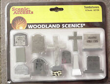 O scale TRAIN CEMETERY TOMBSTONES Woodland Scenics # 2726