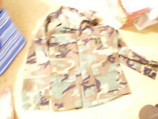 U.S.A.F. Woodland  Camo BDU Shirt Size M/L with Patches