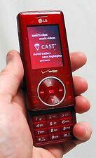 LG Cherry Chocolate VX8500 Verizon Wireless Cell Phone RED camera bluetooth -C