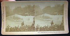 1888 NEW YORK CITY DECORATION DAY PARADE PHOTOGRAPH STEREOVIEW