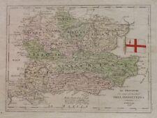 1838 MAP INGHILTERRA ENGLAND SUSSEX SURREY OXFORD ESSEX