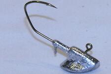 10 pk 1/4 oz Erie Jig Heads Bronze Sickle Hooks Walleye Bass