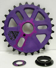 Bicycle BMX Bike Crank Chain Ring Sprocket Gear 25 Tooth Micro Alloy Purple NEW