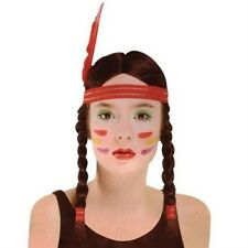 Native American Indian Squaw Princess Pocahontas Fancy Dress Wig NEW P5370