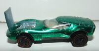 Hot Wheels Redline Ford J-Car Green 1967 67 HW Black Striped Tampo Vintage *****