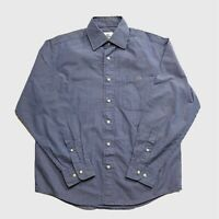 Mens Lacoste Shirt Small Blue Check Long Sleeve.