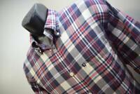 39570 Mens Brooks Brothers 346 Original Long Sleeve Plaid Dress Shirt Sz Large
