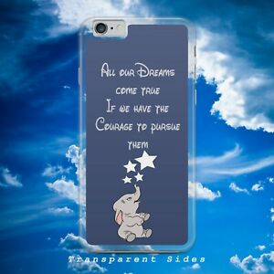 DISNEY DUMBO ELEPHANT DREAMS COME TRUE QUOTE HARD PHONE CASE COVER FOR IPHONE